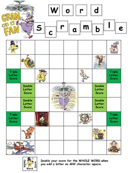 Free Literacy Center Activity: Scrabble-type Game
