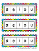 Free Literacy Vowel Strips for Guided Reading/Small Groups