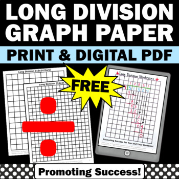 long division math strategies free download