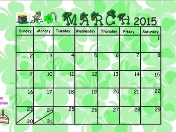 """""""Free March Calendar"""""""