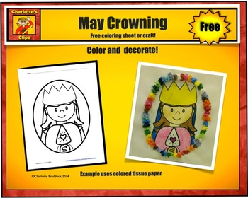 Free Mary Printable and Craft for May Crowning from Charlo