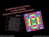 Free Math Activity: Create a Design (Uses Fractions, Decim