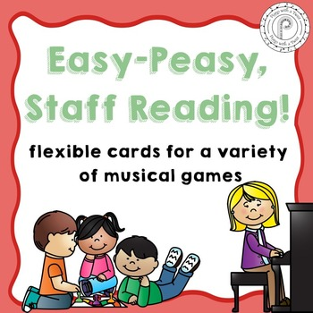 Free! Middle C Position Card Game: CDEFG Treble and Bass Clef