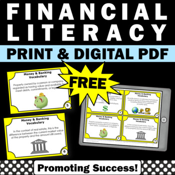 Financial Literacy Vocabulary Activities