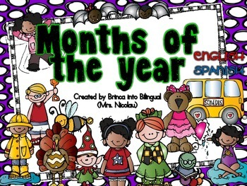 Free Month Signs - Los meses in Engl and Span