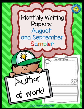 FREE Monthly Writing Papers ~ August and September  {Colle