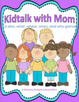 Mother's Day Free Game! Kidtalk with Mom! Centers  Gr K-3