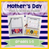 Free Mother's Day Math Craftivities {2 versions!}