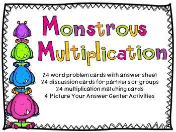 Monstrous Multiplication Activities
