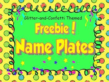{Free} Name Plates