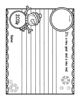 Free New Years Writing Activity For 2nd Grade