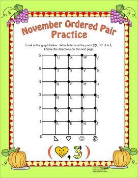 Free November Ordered Pair Activity
