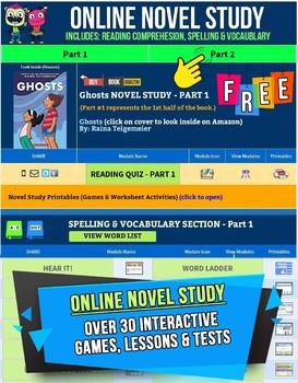 Ghosts by Raina Telgemeier Online Novel Study Guide | Quiz