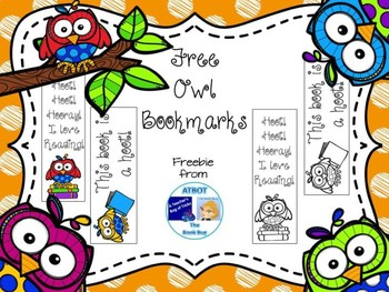 Free Owl Bookmarks