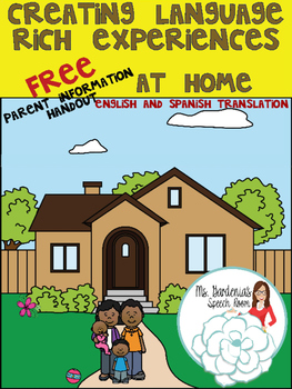 Free Parent Handout: Creating Language Rich Experiences at Home