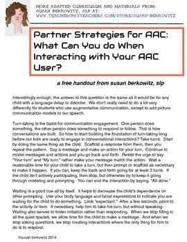 Free Partner Strategies for Augmentative Communication (AA