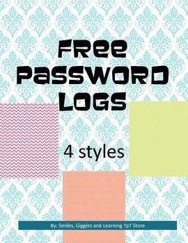 Free Password Log