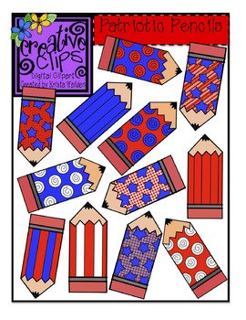 {Free} Patriotic Pencils Clipart