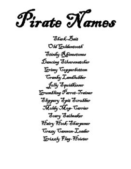 Free Pirate Names and Ranks
