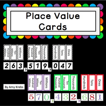 Free Place Value Cards
