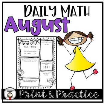 Daily Math Worksheets and Assessments - August