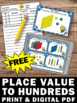 FREE Place Value Task Cards Games & Activities MAB Hundred