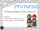 Free Posters!! Idioms, Proverbs & Adages