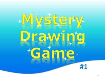 Free PowerPoint Mystery Drawing Game Elementary English, M