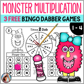 Free Preview ~ Monster Multiplication {3 Bingo Dabber Prin