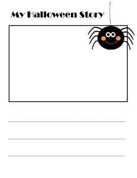 Free Printable Halloween Writing Paper for Kindergarten