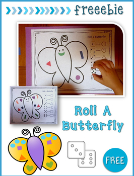 Free Printable Roll A Butterfly Game / Activity for Presch