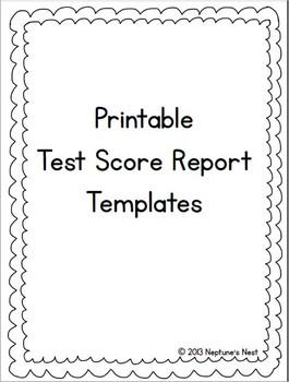 Free Printable Test Score Report Templates
