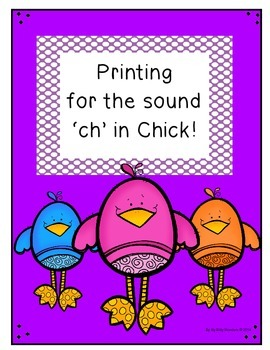 "Free Printing Printables for the sound ""Ch"" in Chick"