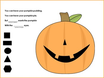 Free Pumpkin Eyes -A Shape Recognition Chant For SMART Board