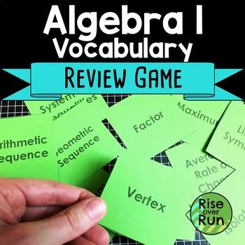Algebra I Vocabulary Review Game
