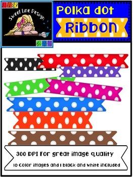 Free Rainbow Polka Dot Banner / Ribbons {Sweet Line Design