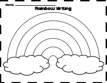 Free Rainbow Writing Template