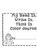 Free Read It, Write It, Think It Journal