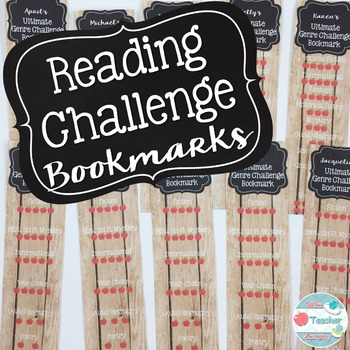 Free Reading Challenge Bookmarks- Editable!