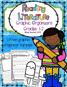 Free Reading Literature Graphic Organizers for Grades 1 and 2