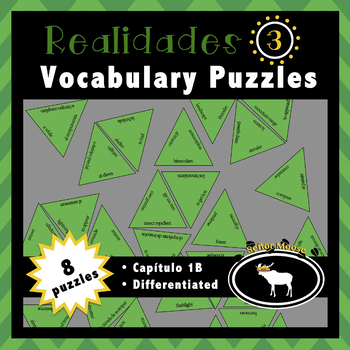Free Realidades 3 Spanish Vocabulary Puzzles (Capítulo 1B)