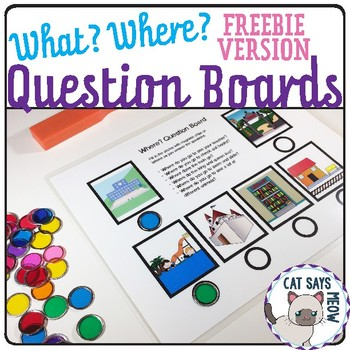 Free! Receptive What? and Where? Question Boards using Dot