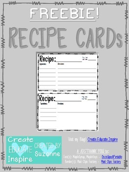 Free Recipe Cards