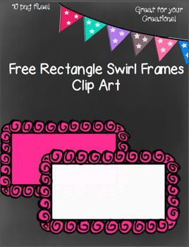 Free Rectangle Swirl Frames- 10 png Images