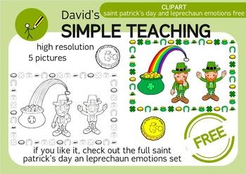 Free Saint Patrick's Clipart and Leprechaun emotions - San