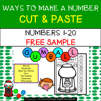Free Sample-Bubble Gum-Ways To Make A Number 1-20 NO PREP