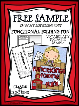 Free Sample From Functional Folding Fun! Vocabulary Flip-F