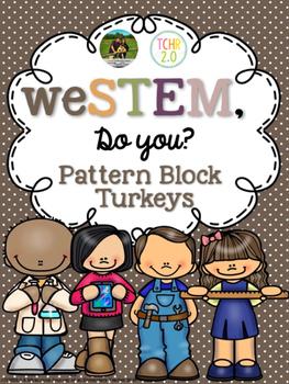 November STEM Challenge Pattern Block Turkeys Free Sample
