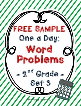 {Free Sample} One A Day: Word Problems for 2nd Grade (Set