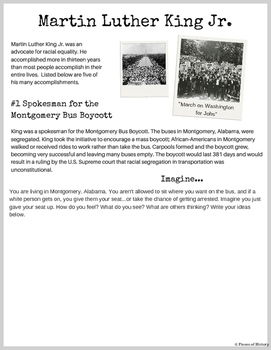 Free! Sample Page from: Martin Luther King Jr. Critical Th